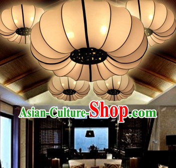 Classic Pure White Traditional Chinese Palace Ceiling Lantern
