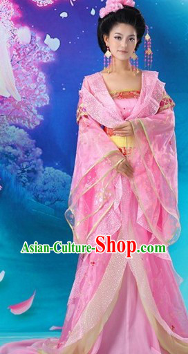Ancient Chinese Tang Dynasty Pink Princess Costumes
