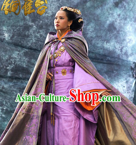 Ancient Chinese Tong Que Tai Yi Nengjing Empress Clothes and Cape Complete Set