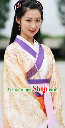 Ancient Chinese Han Dynasty Hanfu Suit for Girls