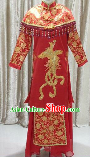 Traditional Chinese Butterfly Wedding Outfit for Brides