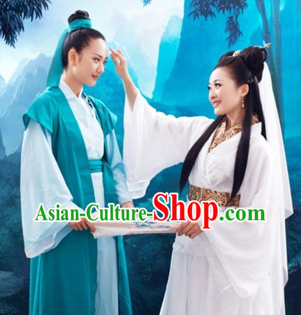Xu Xian and Bai Suzhen Hangzhou Love Story Costumes Two Complete Sets