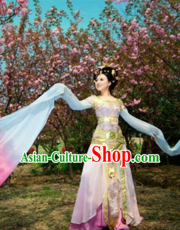 Color Transition Long Sleeves Palace Dancing Outfit