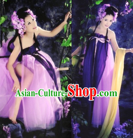Ancient Chinese Tang Dynasty Beautiful Women Costumes