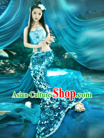 Traditional Chinese Mermaid Costume for Women
