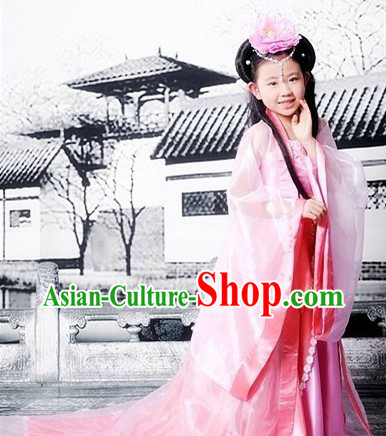 Ancient Chinese Tang Dynasty Princess Costumes and Headpieces