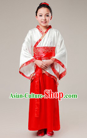 Ancient Chinese School Student Hanfu Clothing for Kids