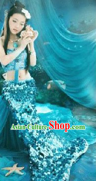 Ancient Chinese Sea Mermaid Costumes for Women