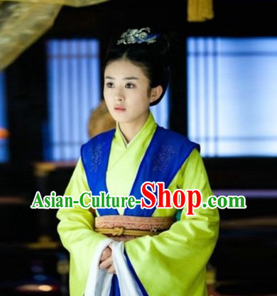 Tang Dynasty Lv Zhen Legend Imperial Palace Maid Costume