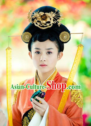Ancient Chinese Imperial Wig and Hair Accessories for Women