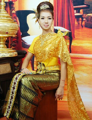 Traditional Asian Thailand Uniforms for Women
