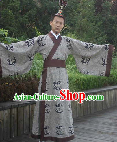 Ancient Chinese Han Dynasty Prince Dragon Robe for Men