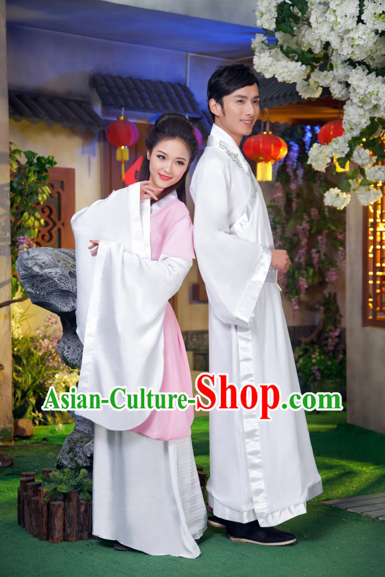 Traditional Ancient Chinese Couple Outfits for Husband and Wife