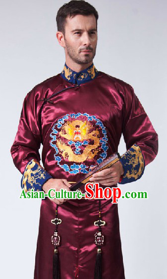 Traditional Ancient Chinese Emperor Embroidered Dragon Robe for Men