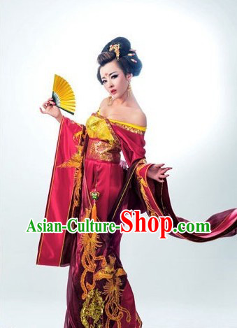 Red Chinese Classical Wedding Costumes for Brides
