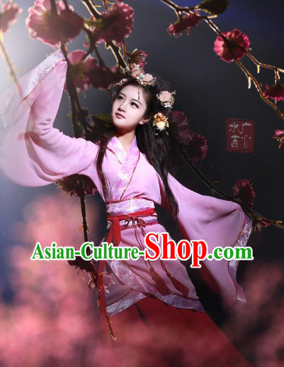 Chinese Classical Dancing Guzhuang Hanfu Outfit for Women
