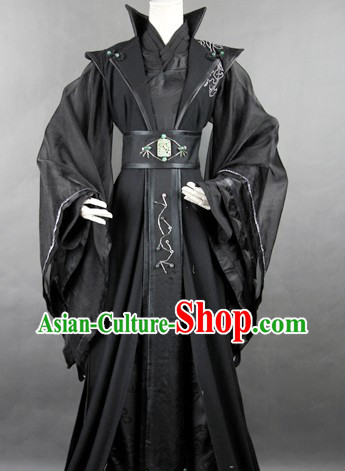 Ancient Chinese Black Master Costumes for Men