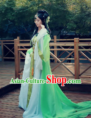 Ancient Chinese Chang An Huan Ye Goddness Costumes and Hair Accessories