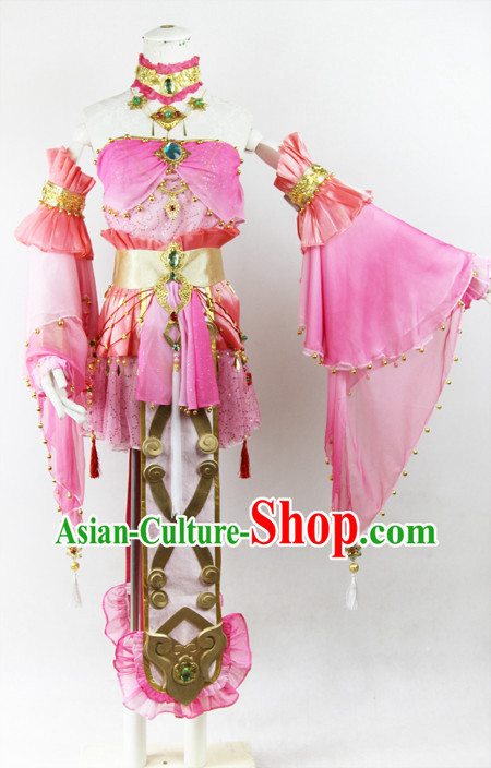 Ancient Chinese Xian Jian Qi Xia Legend Fairy Cosplay Costumes Complete Set for Women