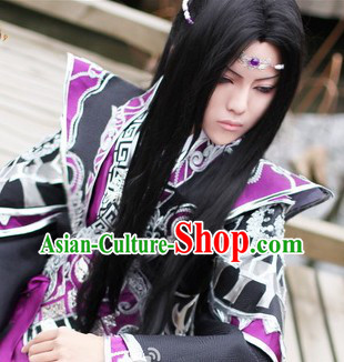 Ancient Chinese Long Wig for Men