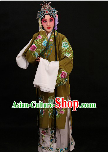 Traditional Chinese Opera Round Flower Embroidery Costumes Suit