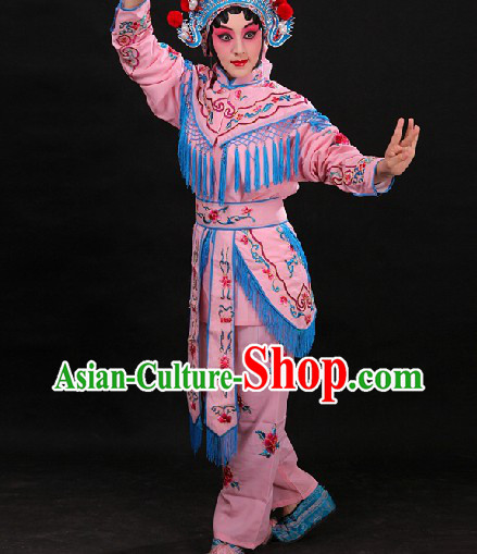 Pink Chinese Opera Female Warriors Wudan Costumes for WOmen