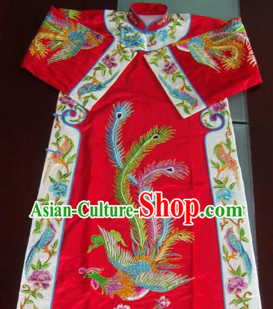 Ancient Chinese Opera Embroidery Phoenix Robe Qipao