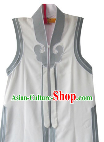 Traditional Chinese Opera White Cloud Jacket