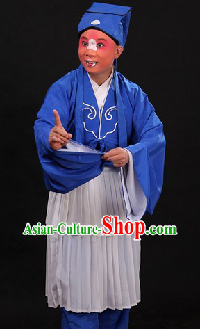 Traditional Chinese Opera Waiter Costumes and Hat