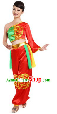 Traditional Chinese Drum Player Costumes for Women