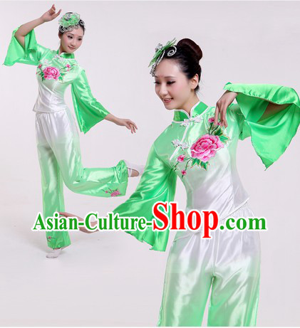 Traditional Chinese Colour Transition Fan Dance Costumes for Women