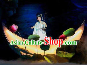 Moon Boat and Lotus and Lotus Flower Stage Performance Dance Props