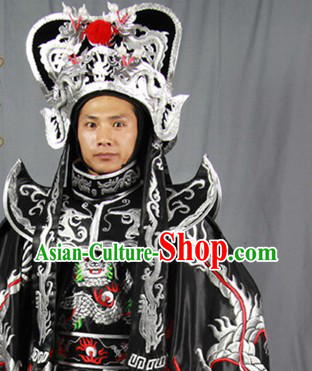 Face-changing Dragon Embroidery Costumes Pants Belt Hat and 12 Masks Complete Set