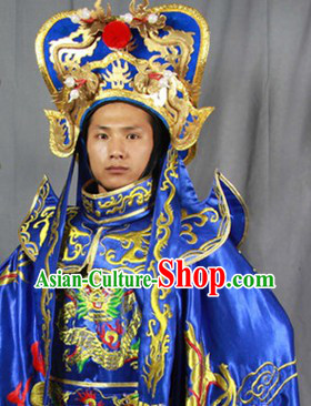 Sichuan Opera Bian Lian Costumes Pants Belt Hat and 12 Masks Complete Set