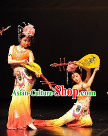 Dunhuangwu Dancing Costumes and Headdress for Women