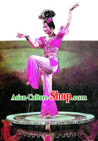 Ancient Chinese Fairy Dance Costumes and Wig for Women