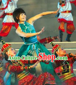 Traditional Chinese Mongolian Ethnic Clothes for Women