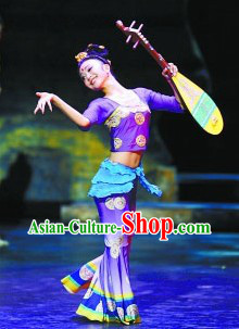 Ancient Chinese Fairy Dancing Costumes and Wig for Women