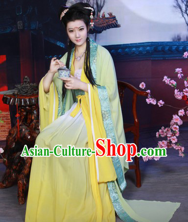 Traditional Chinese Tea Ceremony Shop Waitress Costume for Women