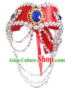 Traditional Mongolian Headpiece for Women