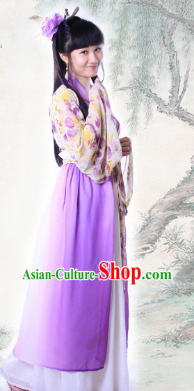 Traditional Ancient Chinese Tang Dynasty Flower Costumes for Women