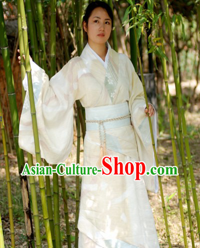 Ancient Chinese Hanfu Clothing Complete Set for Women