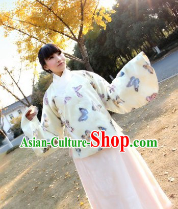 Chinese Classical Ming Dynasty Hanfu Butterfly Outfit for Women