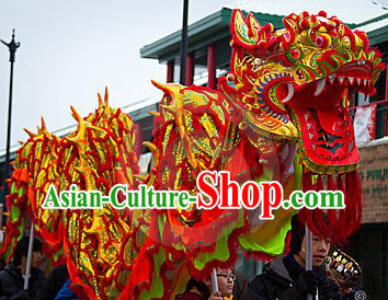 Competition and Parade Gold Dragon Dance Costume Complete Set