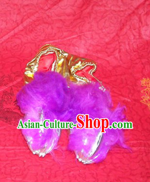 Chinese Festival Celebration One Pair of Lion Dance Claws Shoes Covers