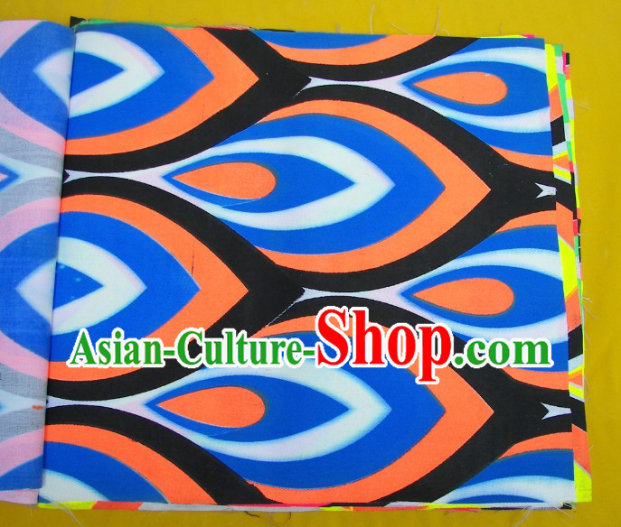 Orange Blue Black Ultra Violet Phoenix Eyes Dragon Dance Costume Complete Set