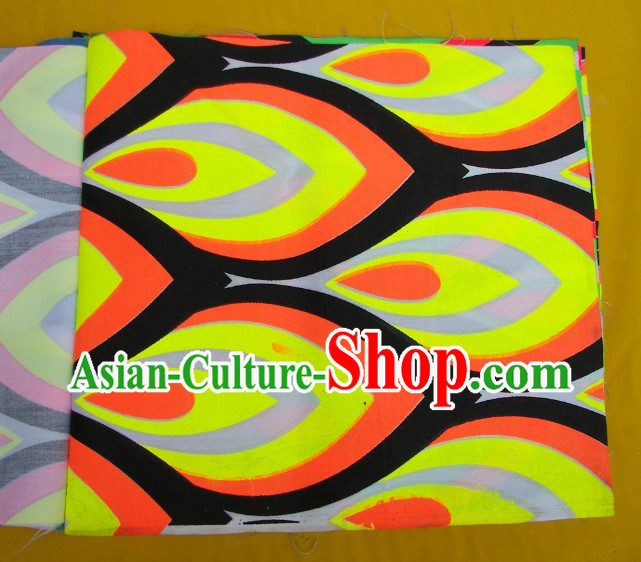 Yellow Orange Black Ultra Violet Phoenix Eyes Dragon Dance Costumes Complete Set
