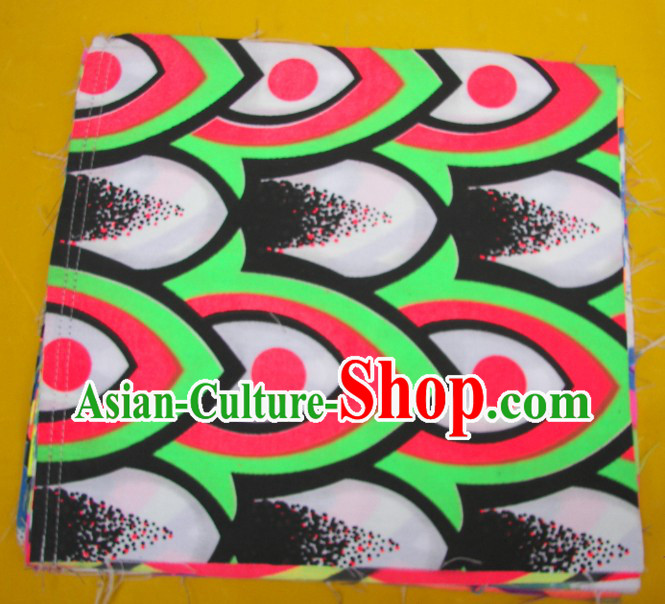 Green Red Black Ultra Violet Bamboo Pattern Dragon Dance Costumes Complete Set