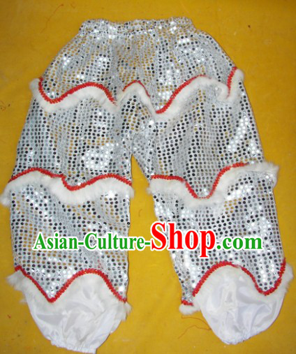 Imitation Wool One Pair of Lion Dance Pants and Claws for Kids