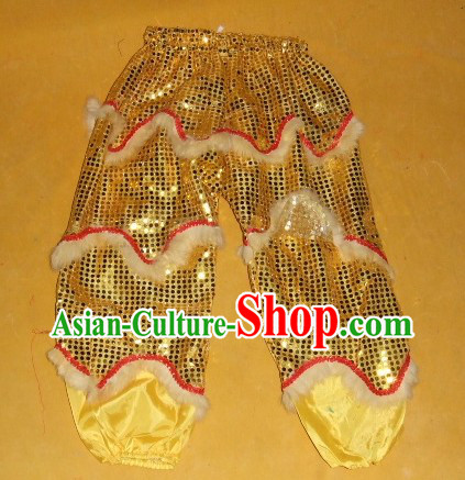 Imitation Wool One Pair of Lion Dance Pants and Claws for Children